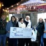 Ragalna, consegnati 1000 euro a Telethon