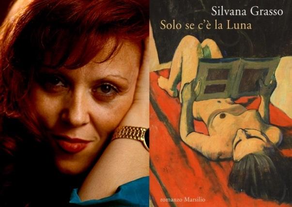 Silvana Grasso e la copertina del suo libro