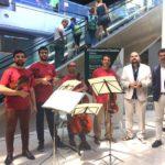 A Catania mini concerti in aeroporto