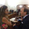 Il sindaco Nino Naso si congratula con Martina Ardizzone, consigliere comunale del M5S eletta vicepresidente del Consiglio Comunale.