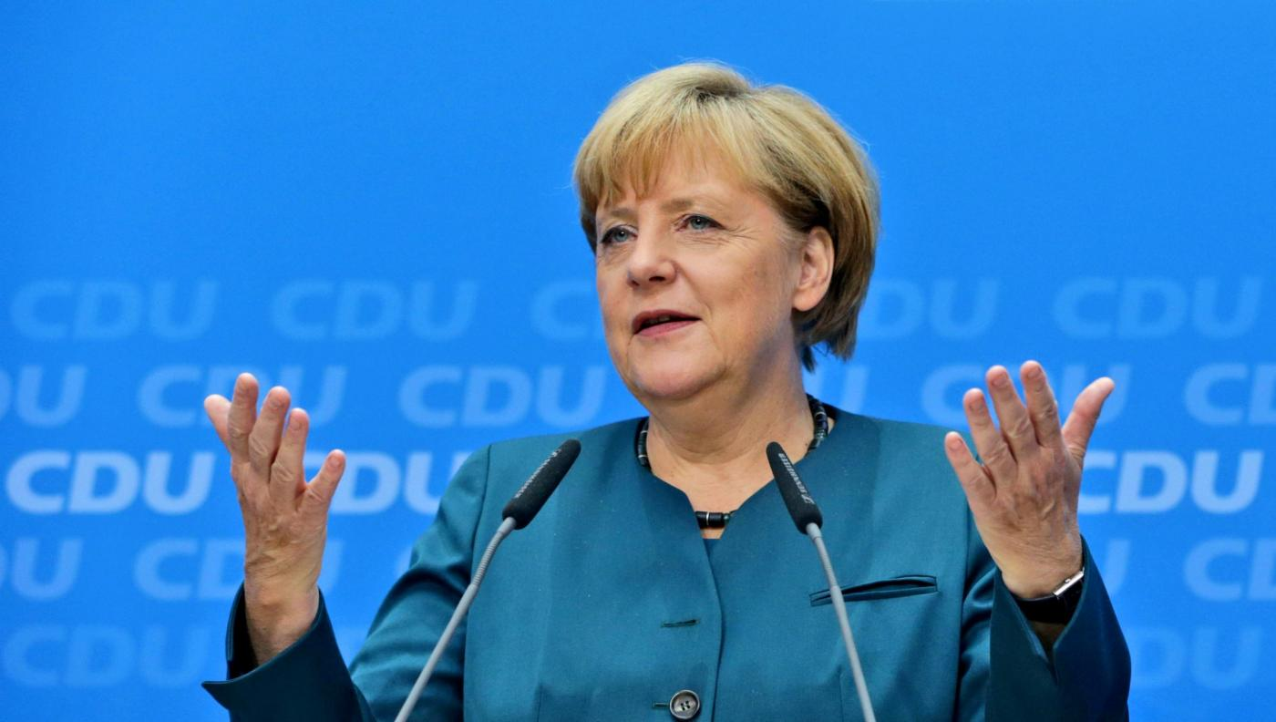 Angela Merkel, per la quarta volta eletta cancelliere tedesco. (AP Photo/Matthias Schrader)