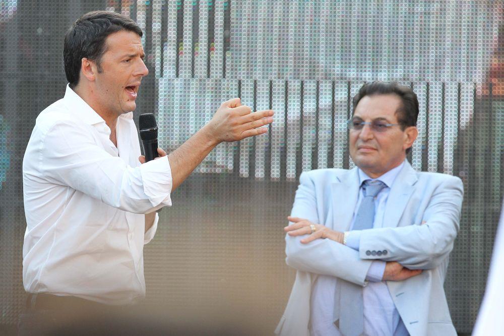 Matteo Renzi con Rosario Crocetta