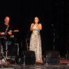 Un momento dell'esibizione di Eleonora Bordonaro ieri sera al Piccolo teatro di Paternò (Foto: A. Carobene)
