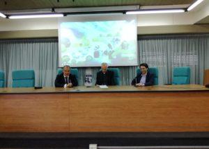 Nella foto da sinistra: Giuseppe Giammanco, direttore generale Asp Catania, il vescovo Raspanti (vice pres.nazionale Cei).