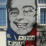 """Paternò, murales con """"Il volto della mafia"""" di Berlusconi. Che si fa?"""