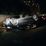 Paternò, incidente autonomo sulla Collina Storica. Auto si ribalta, nessun ferito