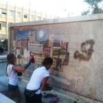 Paternò, volontari europei ripuliscono Piazza della Regione