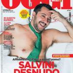 """Matteo Salvini nudo per il settimanale """"Oggi"""""""