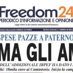 Paternò, il 23 gennaio uscita del nuovo Freedom24 (ANTICIPAZIONI)