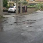 Misterbianco, manto stradale disastrato – di G. Percipalle