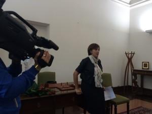 Laura Bottino durante la conferenza stampa