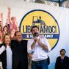 Giorgia Meloni, Silvio Berlusconi e Matteo Salvini, leader dei maggiori partiti del centrodestra (Fratelli d'italia, Forza Italia e Lega).