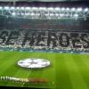"""Il motto """"Be heroes""""  realizzato dai tifosi della Juventus"""