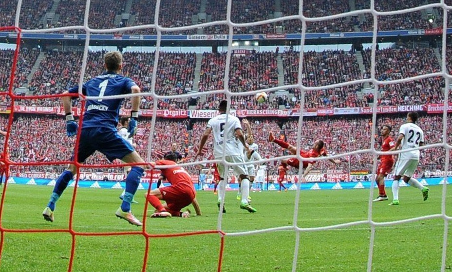 Frank Ribery in rovesciata.