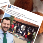 Arancini, profughi e giardini all'inglese: cronaca facebukkiana di Salvini in Sicilia