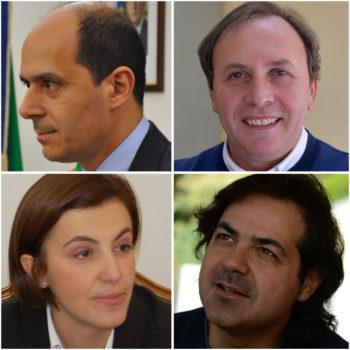 In senso orario: Mauro Mangano, Nino Naso, Anthony Distefano e Laura Bottino.