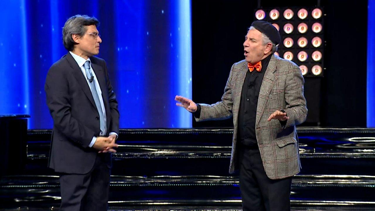 """Salvo La Rosa ed Enrico Guarneri durante la prima puntata della scorsa stagione di """"Meraviglioso"""", andata in onda su TGS"""