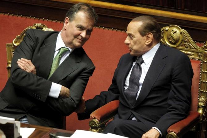 Calderoli e Berlusconi