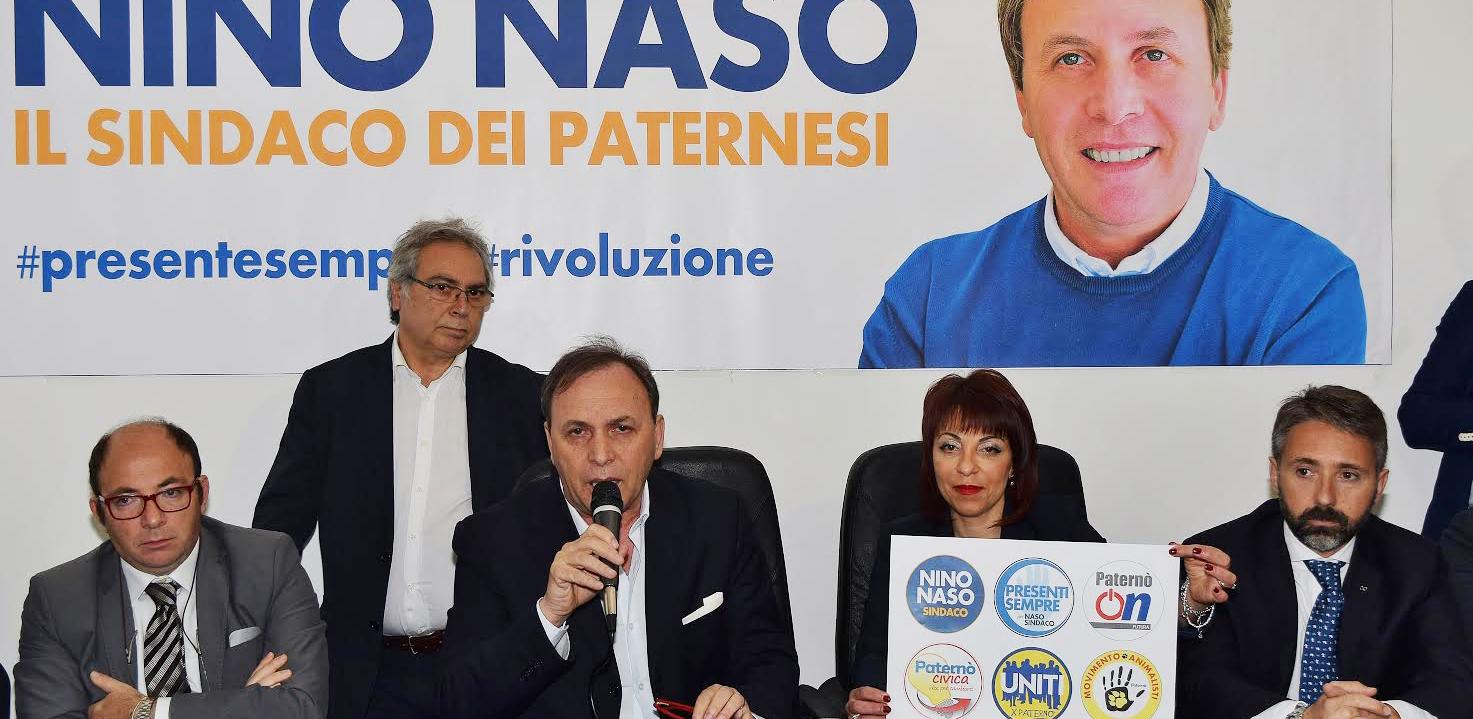 Un momento della conferenza stampa di ieri. Da sinistra: Giuseppe Gulisano, Franco Tomasello, Nino Naso, Natalina Tempesta e Vito Rau.