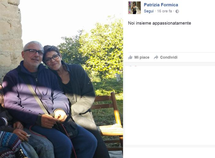 Una foto tratta dal profilo Facebook di Patrizia Formica mostra un post insieme a Salvatore Pirronello, di 53 anni durante l'ultima gita.'+++ATTENZIONE LA FOTO NON PUO' ESSERE PUBBLICATA O RIPRODOTTA SENZA L'AUTORIZZAZIONE DELLA FONTE DI ORIGINE CUI SI RINVIA+++
