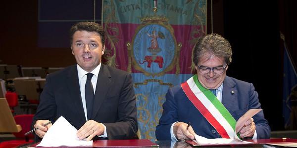 Matteo Renzi e Enzo Bianco