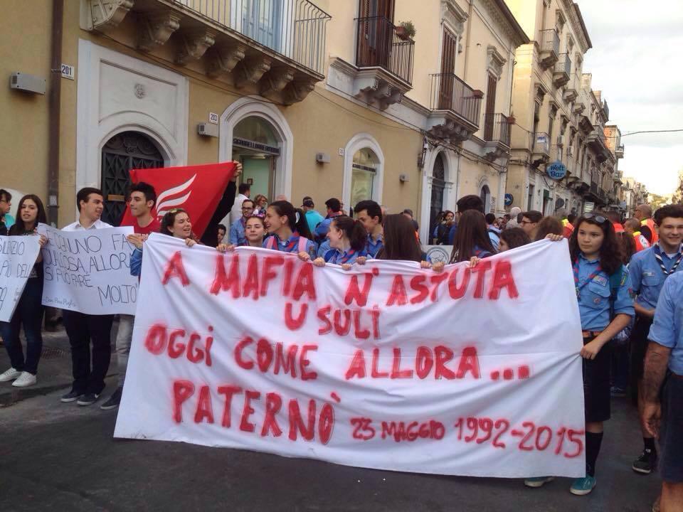 Una marcia d'annata della marcia della Legalità nel 2015