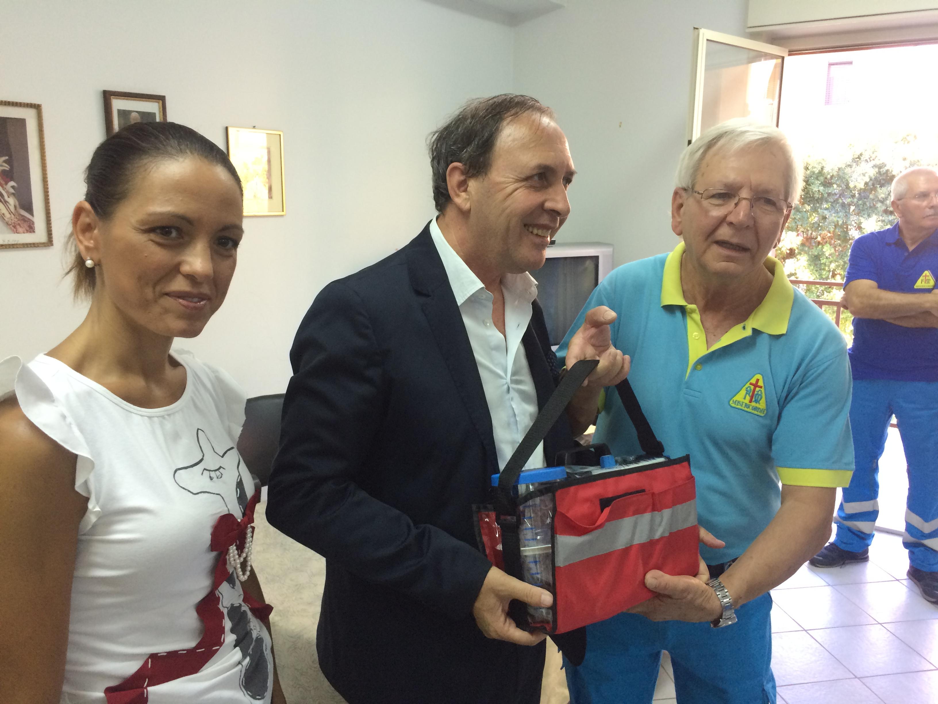 """Un momento dell'incontro di oggi pomeriggio nella sede della """"Misericordia"""" a Paternò."""