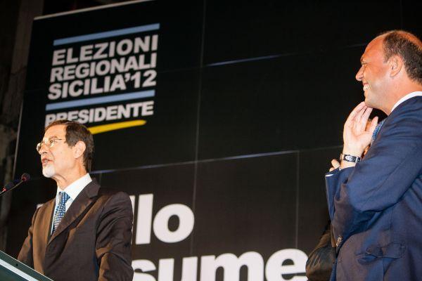 Nello Musumeci e Angelino Alfano nel 2012
