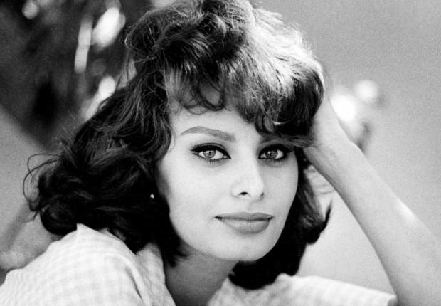 Sofia Loren in una foto storica.