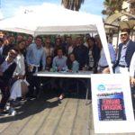 Paternò. Centinaia di firme contro immigrati clandestini al banchetto FdI