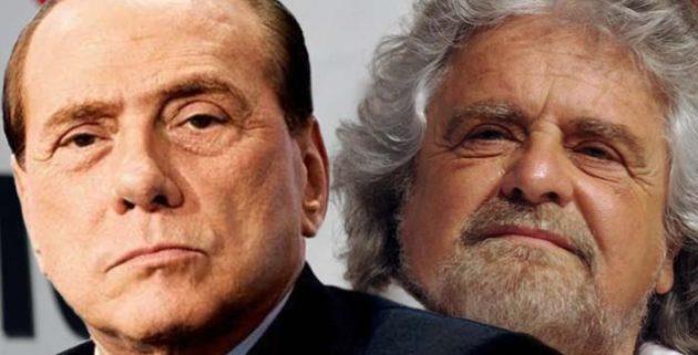 Silvio Berlusconi e Beppe Grillo