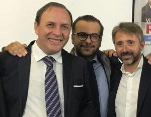 Il sindaco di Paternò Nino naso, il vicesindaco Ignazio mannino e il candidato alle Regionali siciliane Vito Rau.