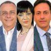 I consiglieri Cunsolo, Lauria e Faranda.