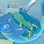 Maltempo: settimana di gelo, neve a bassa quota. Venti dalla Russia
