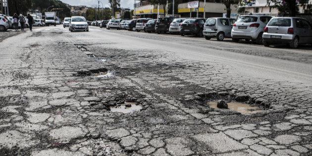 07/03/2018 Roma, buche nelle strade della città in seguito a i giorni di maltempo