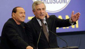 Silvio Berlusconi insieme ad Antonio Tajani