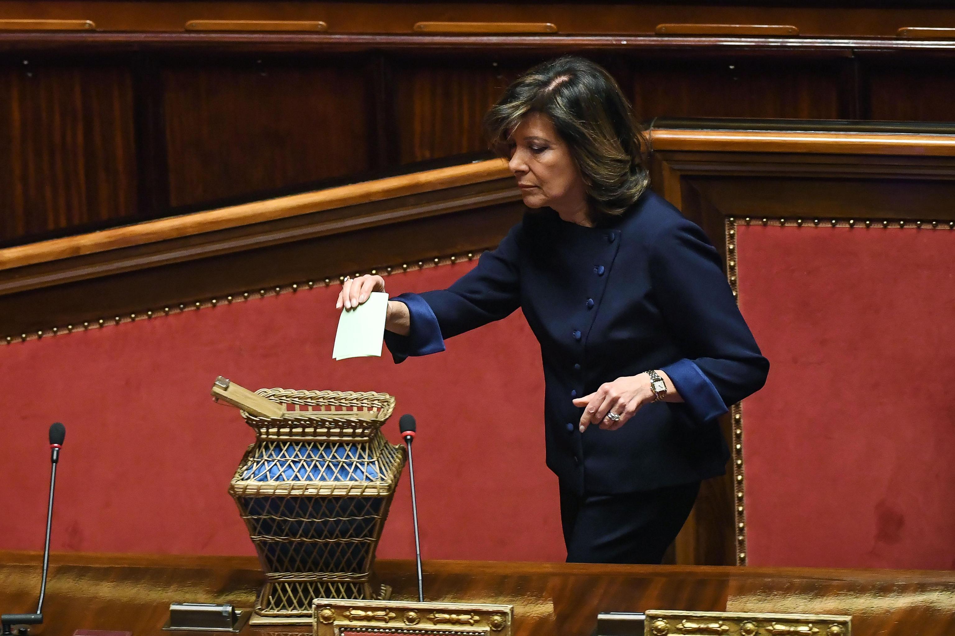 Elisabetta Alberti Casellati, presidente del Senato della Repubblica