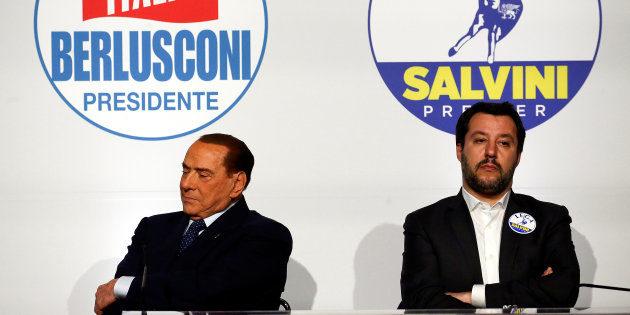 Silvio Berlusconi e Matteo Salvini. REUTERS/Alessandro Bianchi