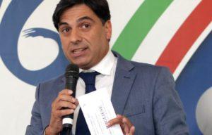 Salvo Pogliese, candidato sindaco di Catania per il Centrodestra ed europarlamentare di Forza Italia.