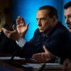 I tre leader del Centrodestra. Da sinistra: Meloni, Berlusconi e Salvini.