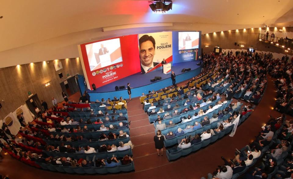 Un momento della convention catanese di Salvo Pogliese candidato sindaco del Centrodestra a Catania.