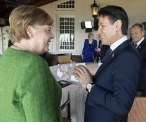 Angela Merkel e Giuseppe Conte