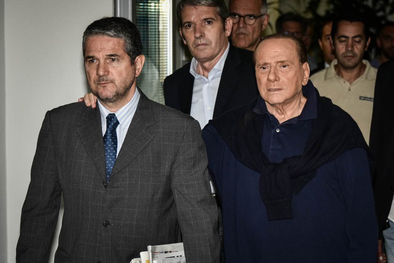 Silvio Berlusconi al San Raffaele