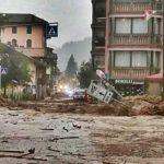 Maltempo nel Nordest: allagata Moena, oltre 3000 fulmini in Alto Adige
