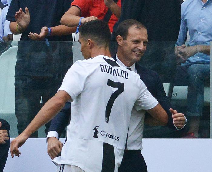 Cristiano Ronaldo e Adriano Galliani