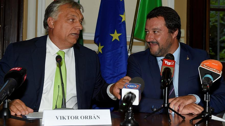 Victor Orban con Matteo Salvini