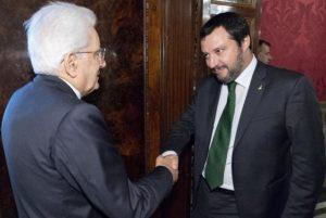 Mattarella con Salvini
