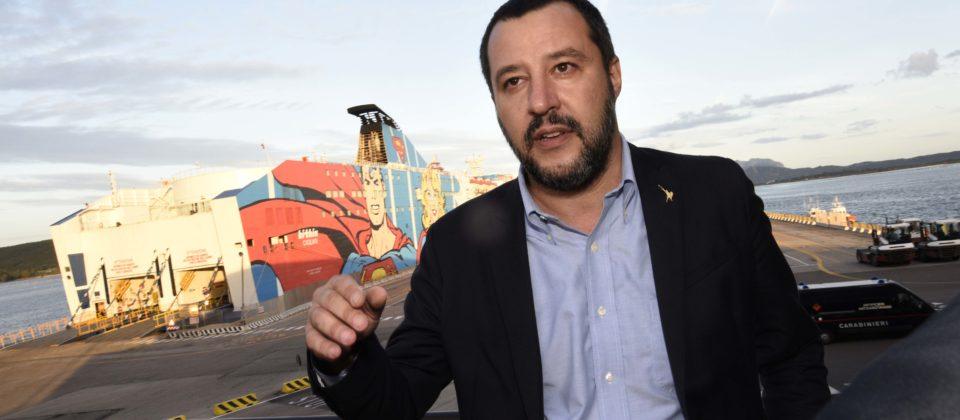 La visita di Matteo Salvini a Olbia