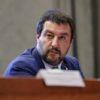 Il vicepremier e ministro dell'Interno Matteo Salvini al Viminale durante una conferenza stampa al termine del tavolo di coordinamento nazionale, Roma, 7 novembre 2018. ANSA/GIUSEPPE LAMI