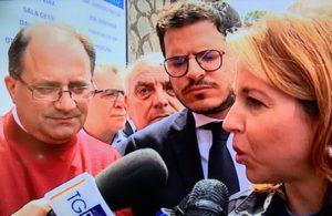 L'on. regionale siciliano Gaetano Galvagno insieme al ministro della Salute, Giulia Grillo.